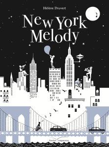 New York musique note jazz melodie livre découpé